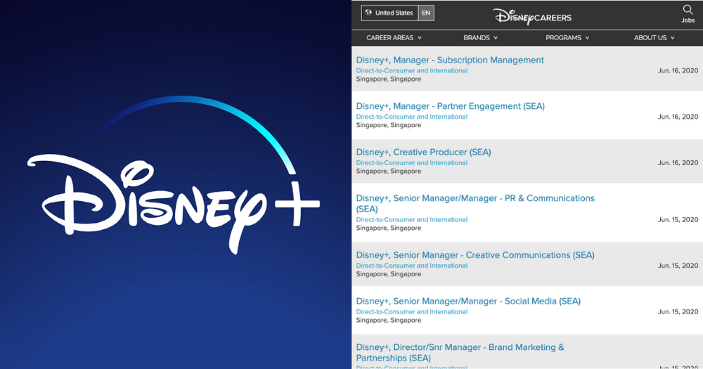 Disney+ hiring in S'pore, streaming service likely to be available soon
