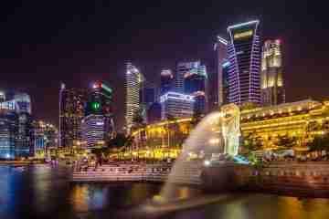 Singapore Business Skyline