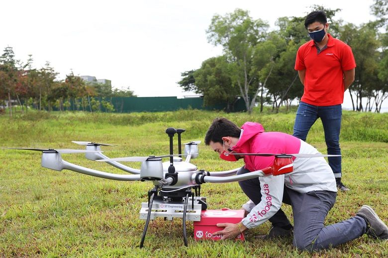 Fried Chicken Winging Its Way To Hungry Sailors In Foodpanda Drone Delivery Test Flight